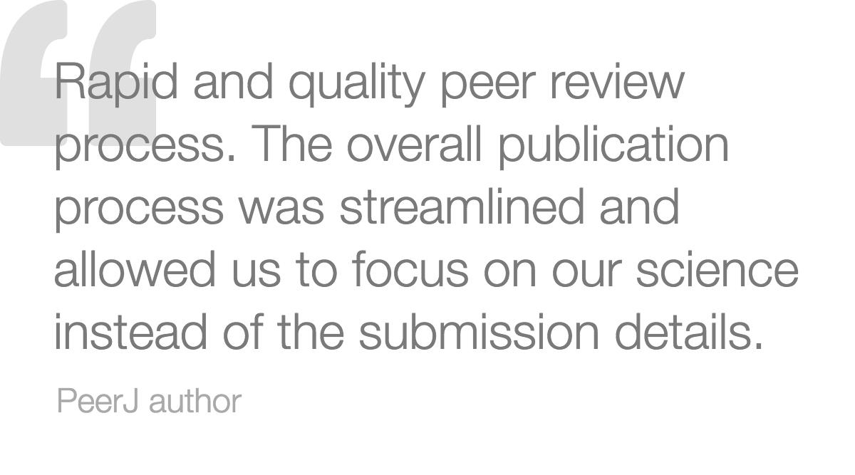 PeerJ - Fast publishing