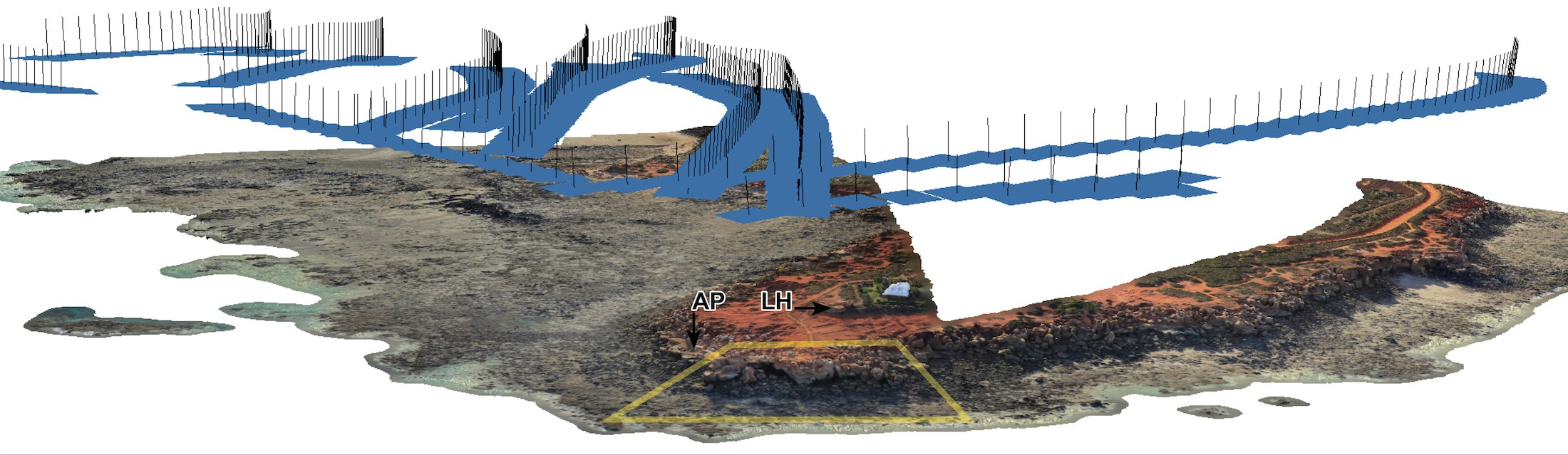 Point cloud of the intertidal zone at Minyirr